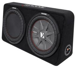 "Kicker 1000W Dual 12"" 4-Ohm Slim Shallow Subwoofer Sealed En"