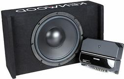 """Kenwood 12"""" Enclosed Subwoofer  with Amplifier"""