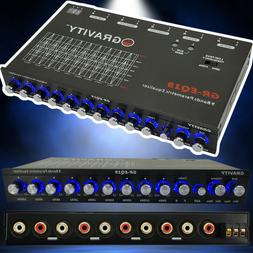 Gravity EQ19 1/2 Din 9 Band Car Audio Equalizer EQ Front, Re
