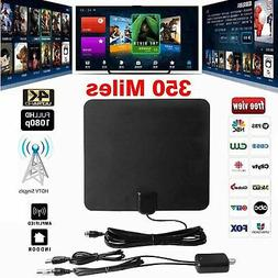 Amplified HD TV Antenna Free Channels 13ft Cable HDTV 4K VHF