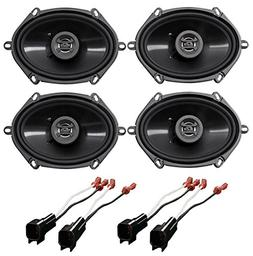 Hifonics 6x8 Front+Rear Speaker Replacement Kit for 1999-200