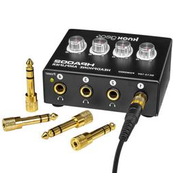 Knox Gear 4-Channel Headphone Amplifier with RCA Input