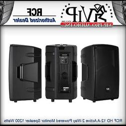 RCF HD 12-A Active 2-Way Powered Monitor Speaker 1200W Ampli