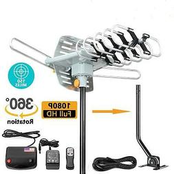 HDTV Amplified Digital HD TV Antenna 200 Miles 360 Rotation