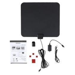 Indoor Amplified TV Antenna ViewTV 50 Miles Range Flat HD Di