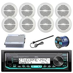 JVC Marine Boat Radio Stereo Player Receiver Bundle Combo wi