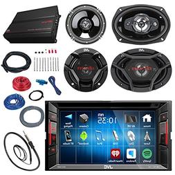 """JVC 6.2"""" Touch Screen Car CD/DVD Receiver Bundle Combo with"""