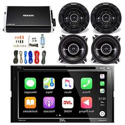 JVC 6.8 Inch LCD Touchscreen Double DIN Bluetooth Car Stereo
