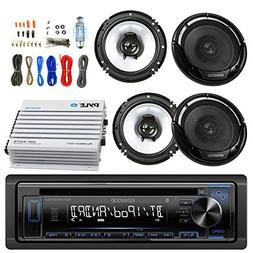 Kenwood Car CD Player Receiver AUX Radio - Bundle Combo with