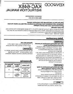 Kenwood KAC-646-X Amplifier Owners Instruction Manual
