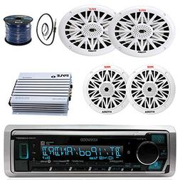 "KMR-M318BT Marine USB Bluetooth Radio,6x9""and 6.5"" Speaker S"