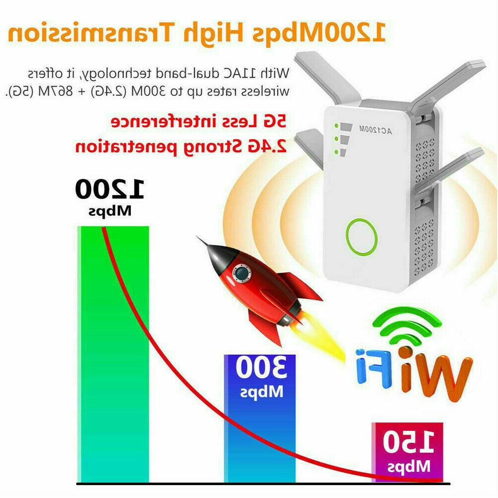 1200Mbps WiFi Repeater Signal Boosters