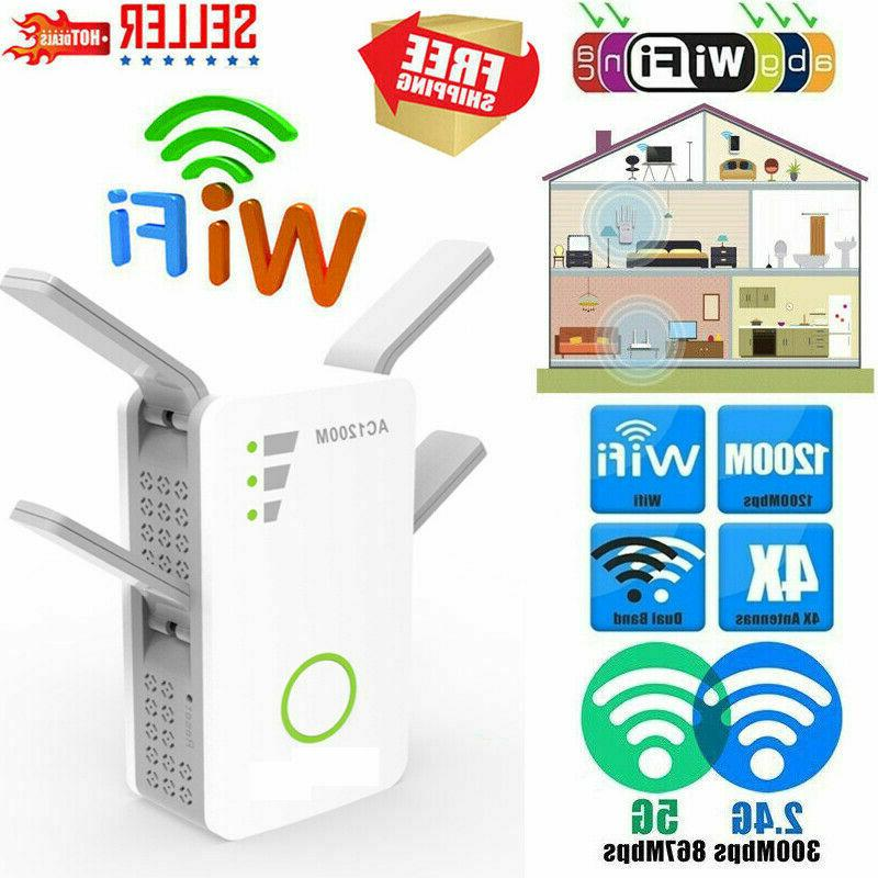 1200Mbps WiFi Extender Repeater Amplifiers Signal Boosters