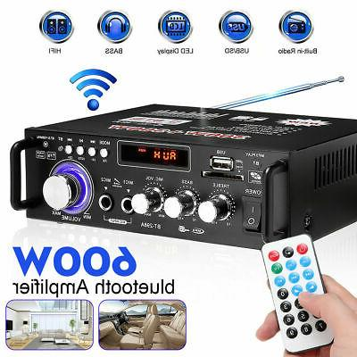 600W 110V Stereo Amplifier bluetooth SHIPING