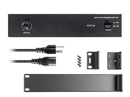 Monoprice Amplifier - Black 450 Class D, Stereo
