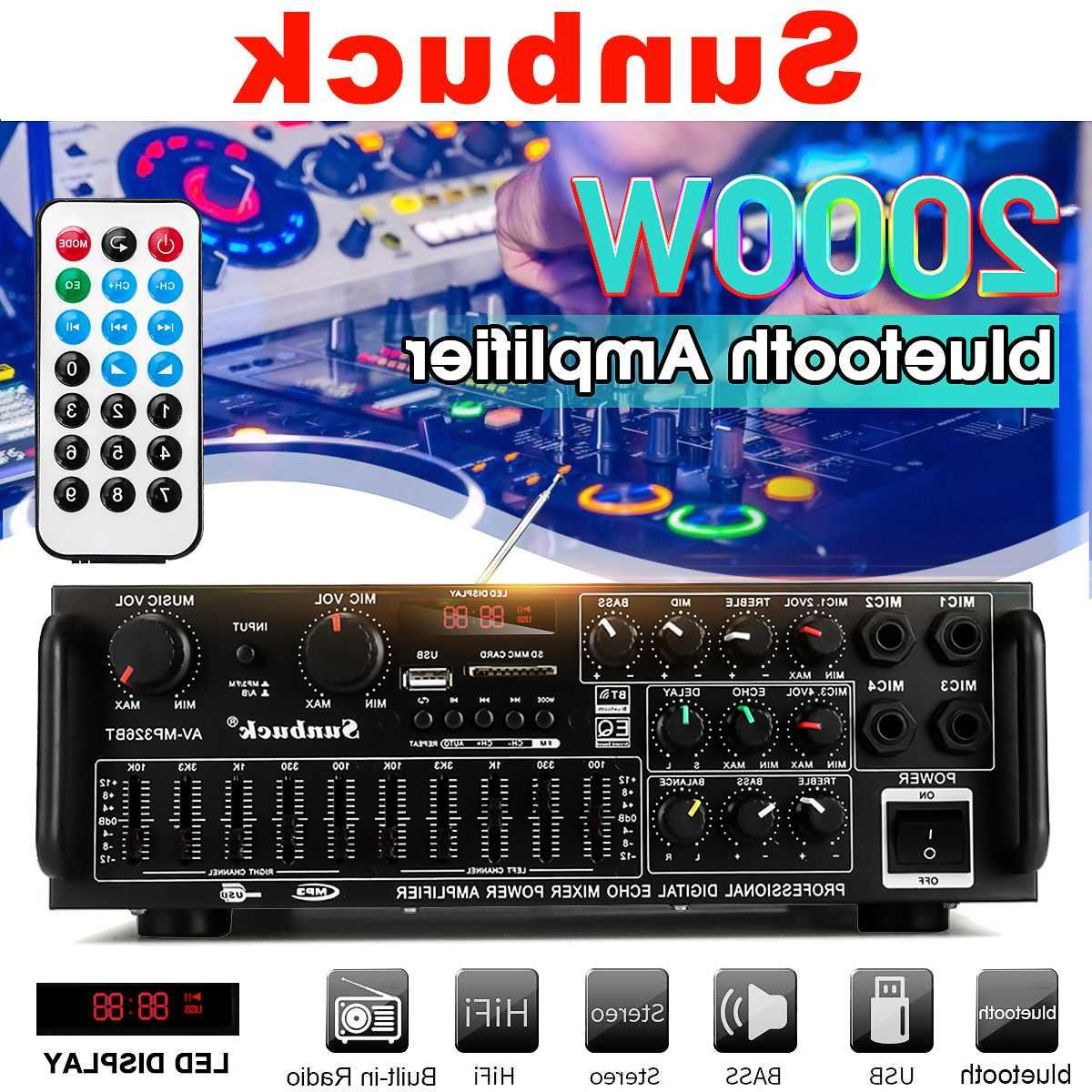 2000w 110v 220v 2channel bluetooth font b