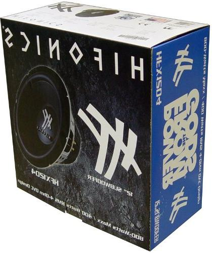 4) HIFONICS 2400W Audio Subwoofers Bass