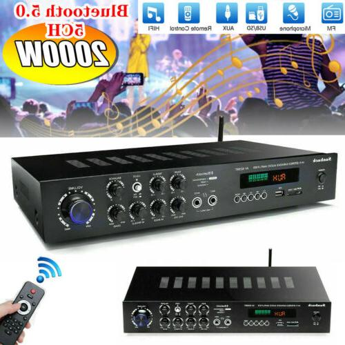 5 channel bluetooth 2000w home stereo hi