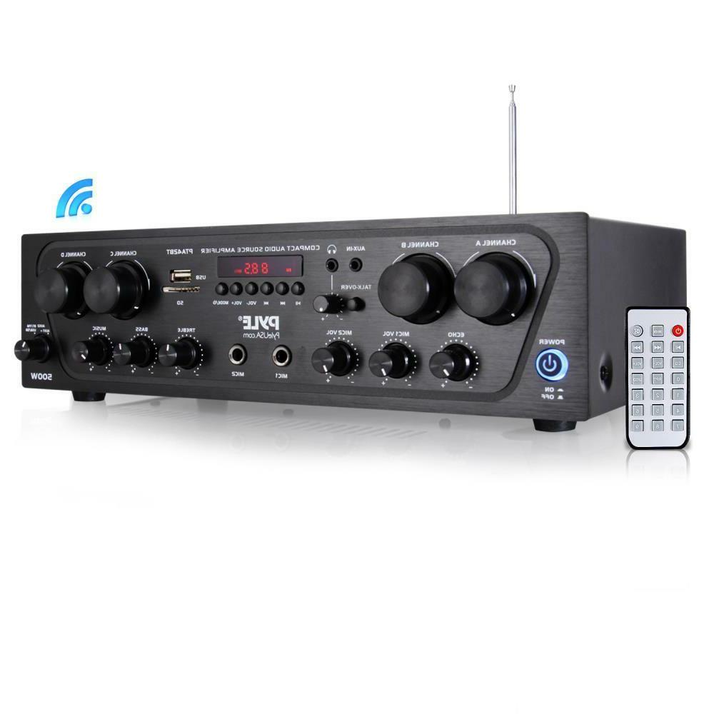 500w 4ch bluetooth home theater amp amplifier