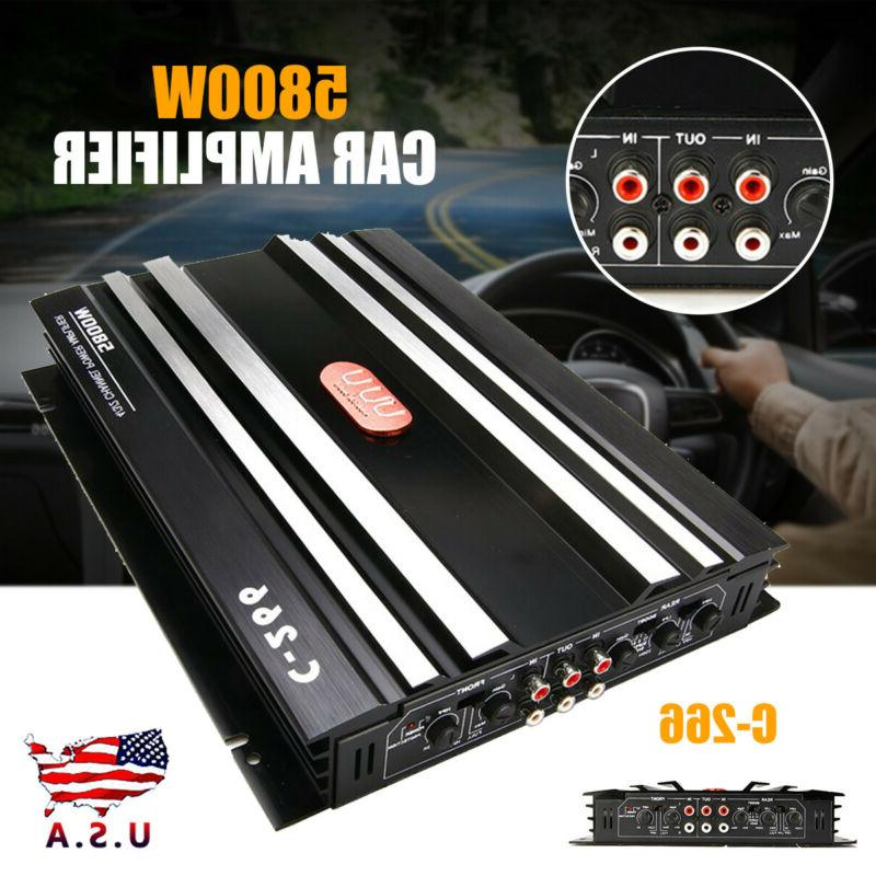 5800w car 4 channel power amplifier stereo
