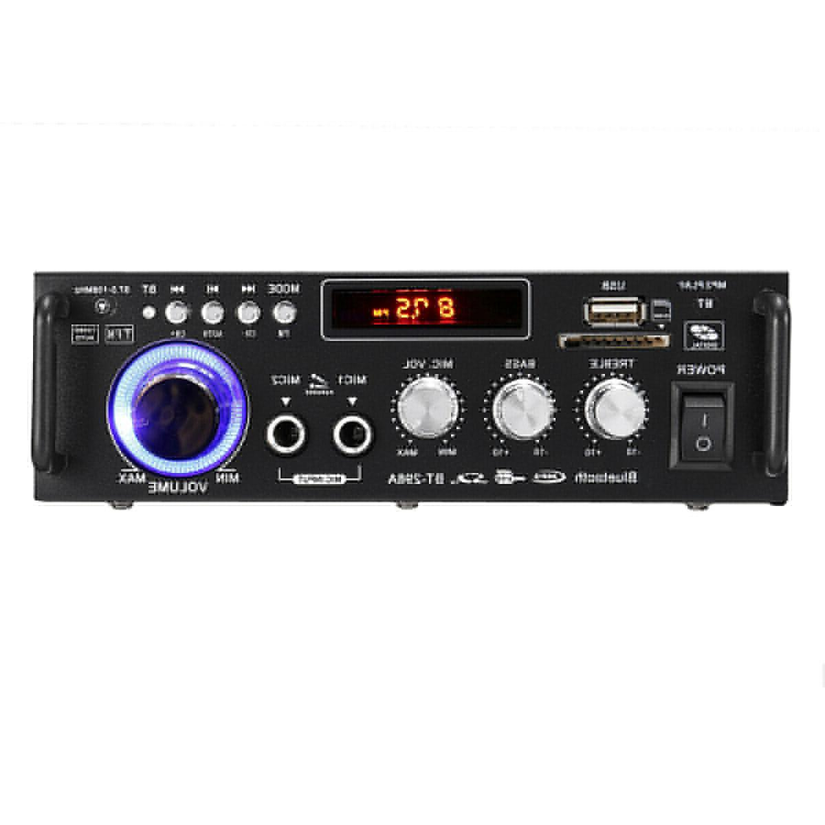 600W Audio Stereo 2CH LCD Amplifier Car Home USB