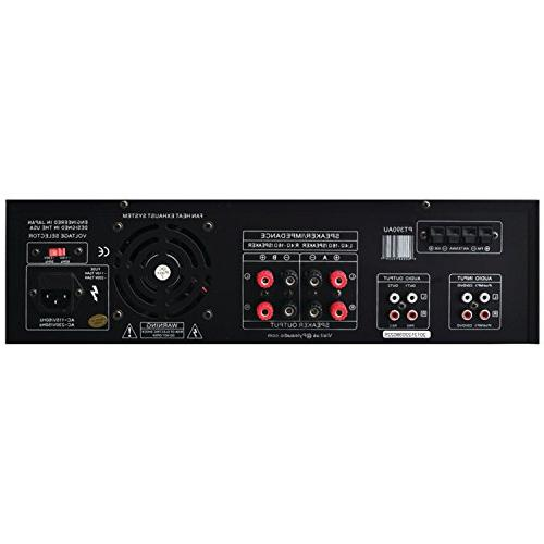 Home Audio Power System Channel Power Sound Receiver w/ USB, RCA, Remote For iPhone, -