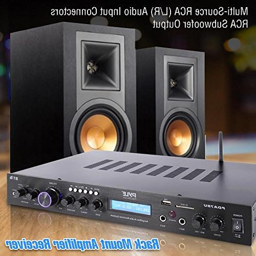 Pyle Rack Mount Home Theater Amplifier, MP3/USB/SD/AUX/FM w/ Display
