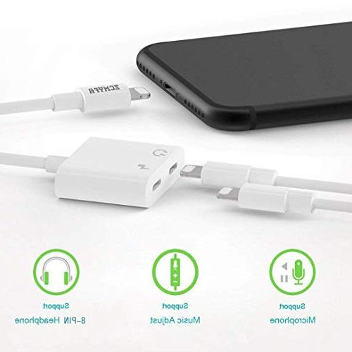 Headphone Adapter Splitter AUX Audio Call sync Compatible Dongle Connector Compatible iOS 10.3