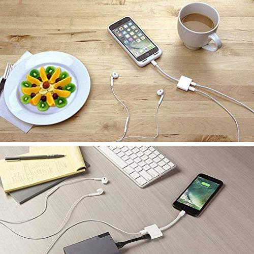 Headphone Adapter for Adapter Jack Splitter Audio & & Call & Compatible Dongle Accessory Adaptor Compatible