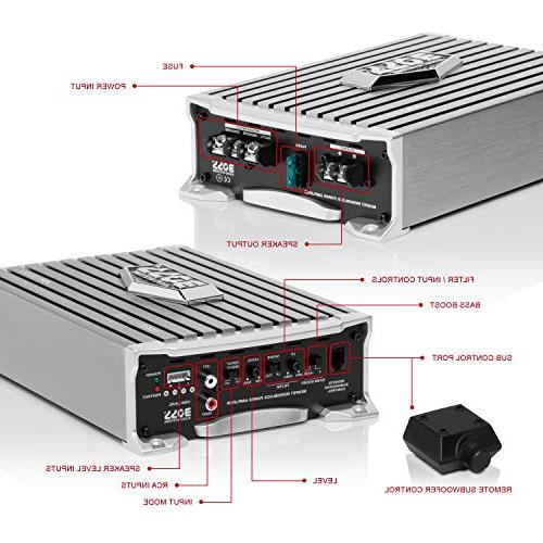 BOSS Amplifier Max Power, 2/4 Stable, Class A/B, MOSFET Power Remote Subwoofer