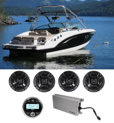 audio marine bluetooth receiver 4 ch amplifier