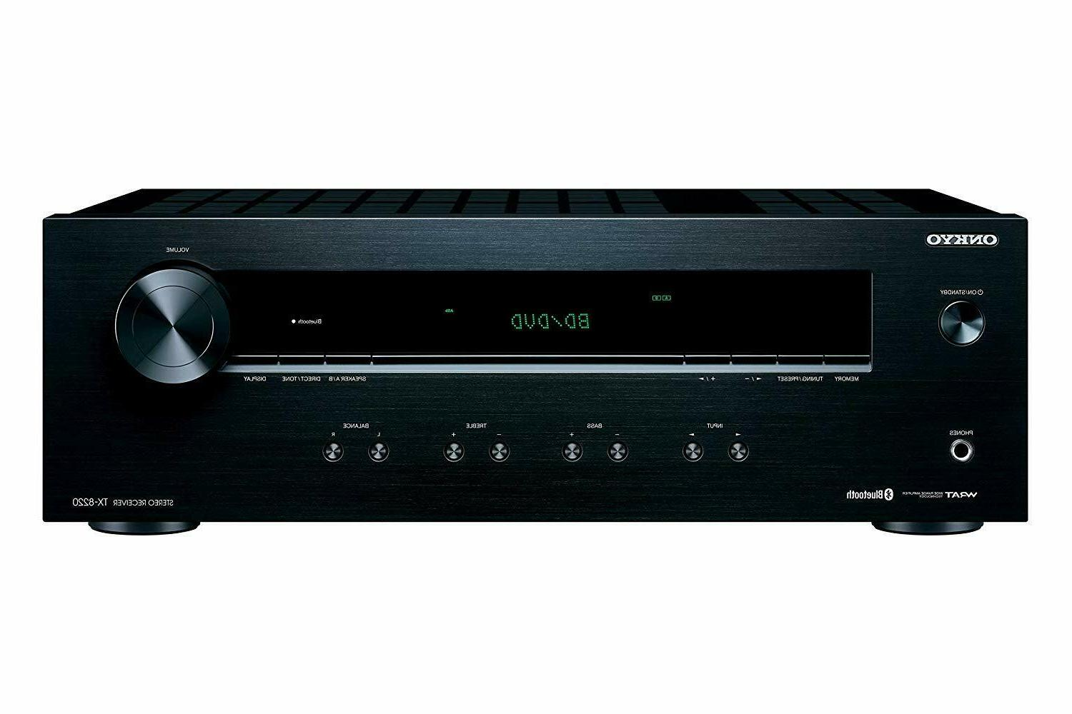 New Onkyo Bluetooth Home Stereo Receiver Amp Amplifier With