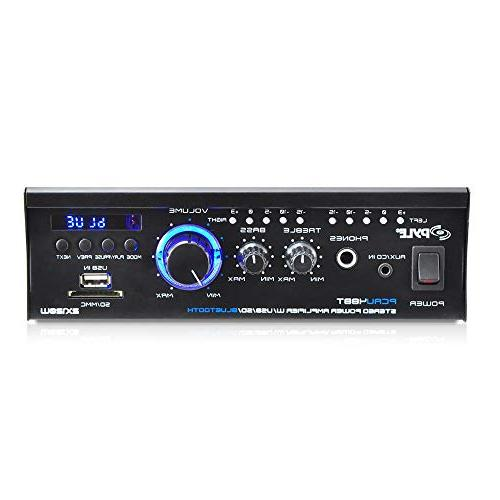 Amplifier Mini Receiver for CD, MP3, Amplified Theater Input, Use Pyle