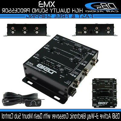 DS18 DS-XM3 Two-to-Three Way Electronic Crossover with Remot