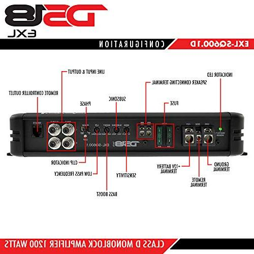 DS18 Efficiency Compact 600 Watts Channel Luxury D Sound Quality with Bass