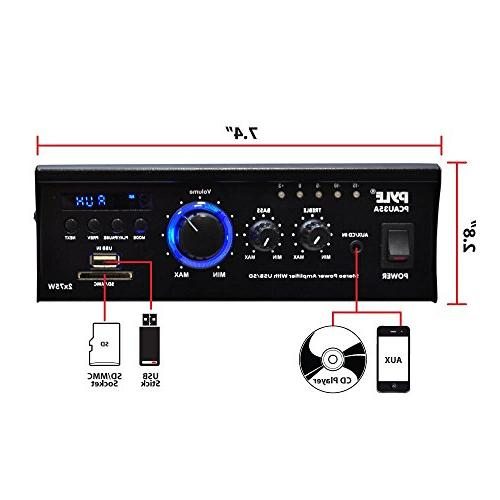 Home System Dual Channel Receiver Box, Sound w/ USB, LED, - iPhone - Pyle
