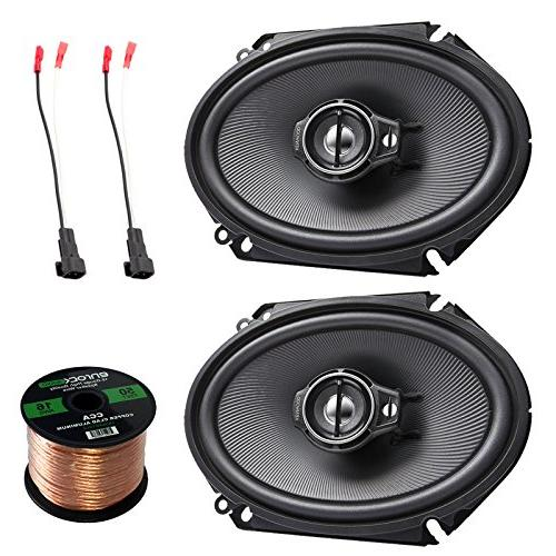 kenwood series black coaxial speakers