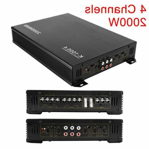 new 2000w 12v 4 channel class ab