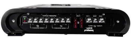 4 Car Amplifier - High Power Bridgeable Sound Amp Crossover, Bass Control, Silver Plated RCA Output Pyle