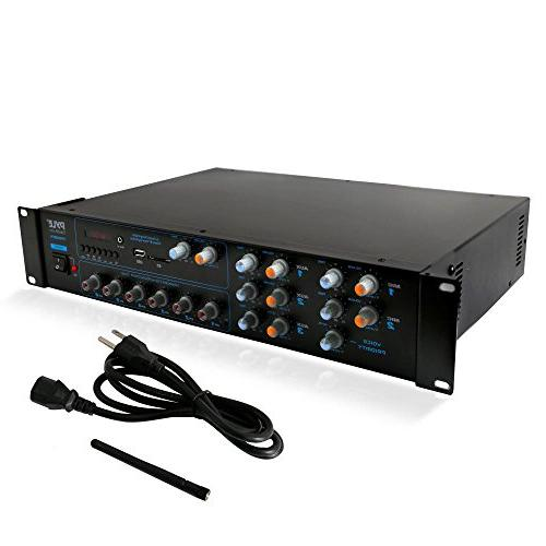 Wireless System - 4200W Powered Rack Mount Portable Surround Multi Audio Home Box - for Speaker, Theater - PT6000CH