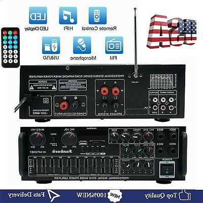 professional 326bt bluetooth stereo amplifier 2ch amp