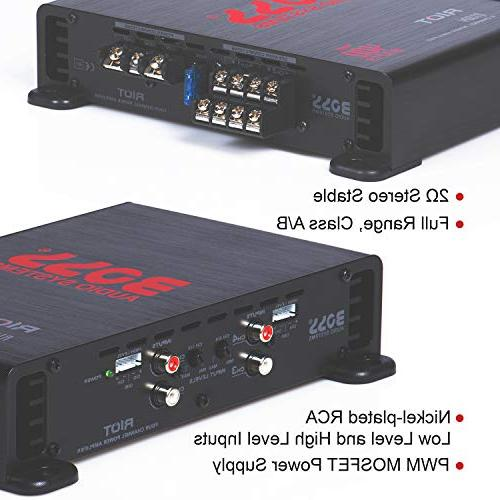 4 Channel Amplifier – Full Range, Class A/B, Ohm Stable, Great Car and Stereo