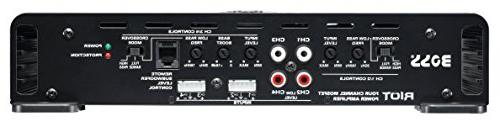 BOSS R2504 Riot Watt, 4 Channel, Ohm Class Full Range, Bridgeable, MOSFET Car Amplifier with