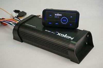 Water Resistant Bluetooth Marine 4 Channel Class A//B Amplifier Media Stereo on