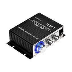 ONEU Mini Amplifier, 2 Chanel Class D Stereo Amplifiers 2x20