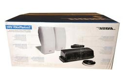 New Bose 251 Outdoor Speakers White w/ Bose SoundTouch SA-5