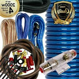 Car Audio  4 Gauge Cable Kit Amp Amplifier Install RCA Subwo
