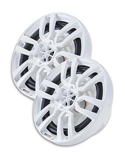 "DS18 NXL8 8 Inch White Marine 8"" Hydro 2-Way Speaker , 2 Pac"
