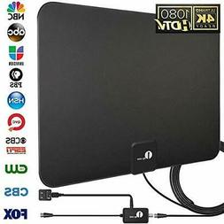 1byone Amplified Digital TV Antenna with 50 Miles Range, Sup