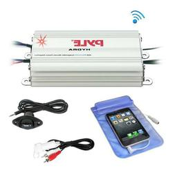 Pyle PLMRMB4CW Bluetooth Marine Amplifier Kit, 4-Ch. Waterpr